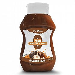 GymBeam Bezkalorický sirup Hazelnut Choco 350 ml hazelnut chocolate