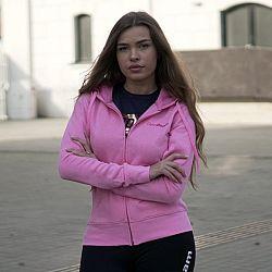 GymBeam Dámska mikina Zipper Hoodie Baby Pink pink XS