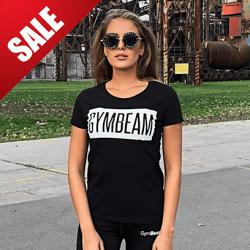 GymBeam Dámske tričko Box Logo Black White L