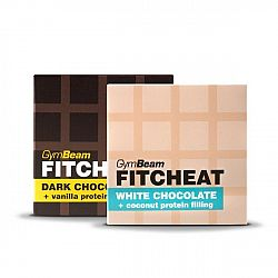 Gymbeam Fitcheat Protein Chocolate Bar 90 g dark chocolate vanilla