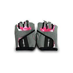 GymBeam Fitness Dámske rukavice Camo Pink pink S