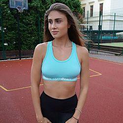 GymBeam Športová podprsenka Simple Turquoise turquoise XL