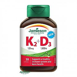 Jamieson Vitamin K2 120 mcg + D3 1000 IU 30 ks 30 kaps