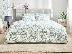 Posteľné obliečky Dormeo Lines, 140x200 cm, zelená