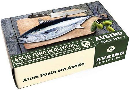 Aveiro Tuniak v olivovom oleji 120 g solid tuna in olive oil