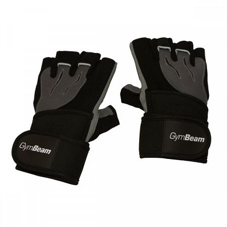 Fitness Rukavice Ronnie - GymBeam black - grey S