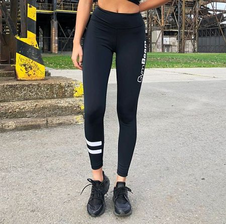 GymBeam Dámske Legíny Ribbon Black  XS