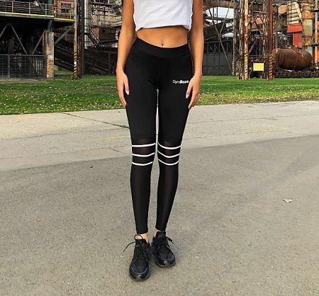 GymBeam Dámske legíny Stripes Black black XL