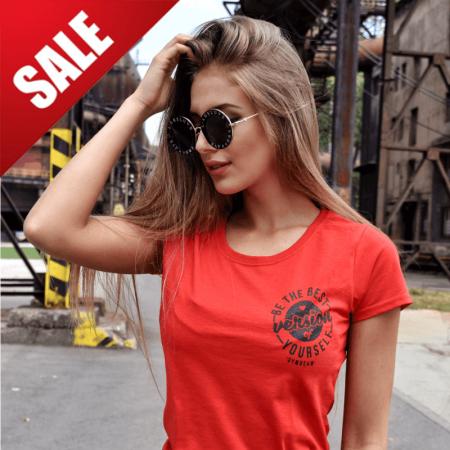 GymBeam Dámske tričko The Best Version Red Black S