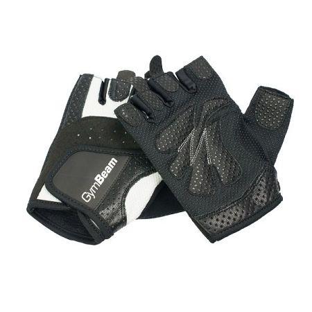 GymBeam Fitness Dámske rukavice Bella white - black S