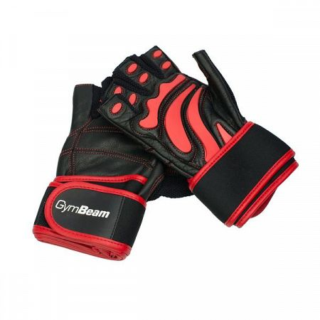 GymBeam Fitness Rukavice Arnold black - red S