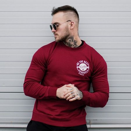 GymBeam Mikina The Best Version Burgundy  XXL