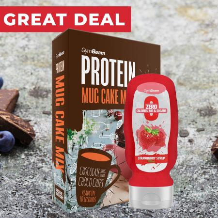 GymBeam Protein Mug Cake Mix chocolate with choco chips 500 g