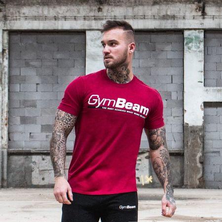 GymBeam Tričko Body and Mind Cardinal Red XL