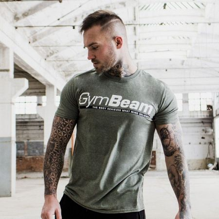 GymBeam Tričko Body and Mind Heather Green XXL