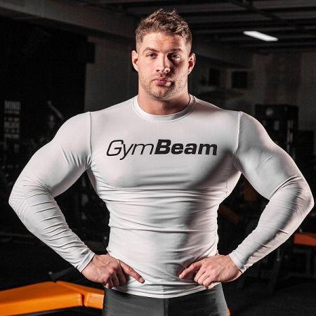 Kompresné tričko Spiro White/Black - Gym Beam M