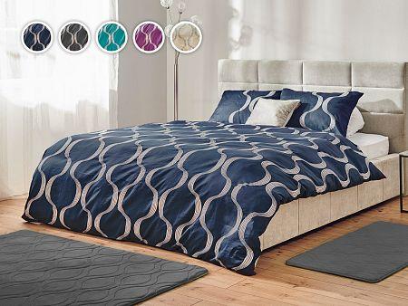 Posteľné obliečky Yin&Yan Dormeo, 140x200 cm, modrá