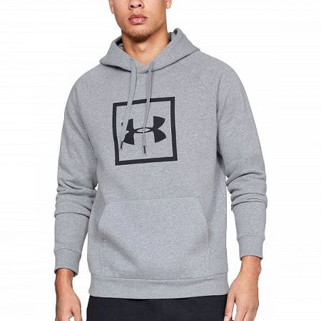 Under Armour Rival Fleece Logo Hoodie Grey grey S